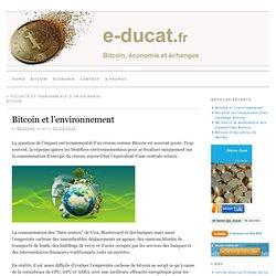 Bitcoin et l'environnement