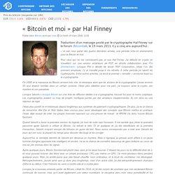 «Bitcoin et moi» par Hal Finney