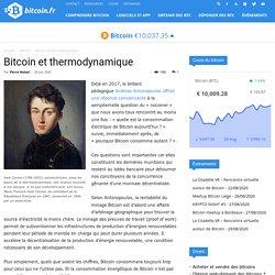 Bitcoin et thermodynamique - Bitcoin.fr