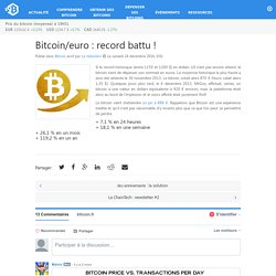 euro : record battu ! – Bitcoin.fr