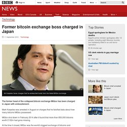 Former bitcoin exchange boss charged in Japan