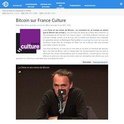 sur France Culture – Bitcoin.fr