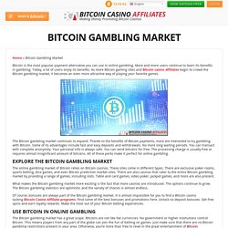 Bitcoin Gambling Market Thrives in iGaming Industry