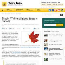 Bitcoin ATM Installations Surge in Canada