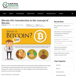 Bitcoin 101: Introduction to the concept of Bitcoin