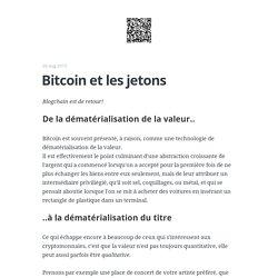 Bitcoin et les jetons