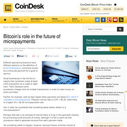 Bitcoin's role in the future of micropayments