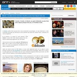 Bitcoin : la valeur de la monnaie virtuelle au plus haut depuis trois ans