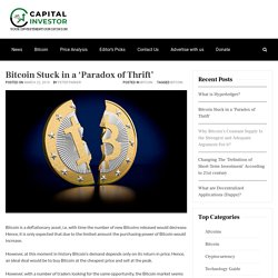 Bitcoin Stuck in a 'Paradox of Thrift'