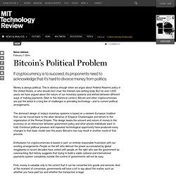 Bitcoin's Political Problem