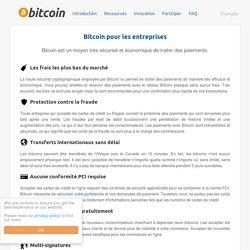 Bitcoin pour les entreprises