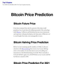 Bitcoin Price Prediction – Top 5 Cryptos