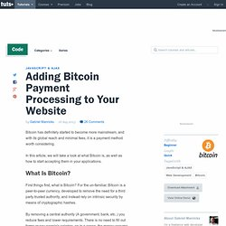 Adding Bitcoin Payment Processing to Your Website