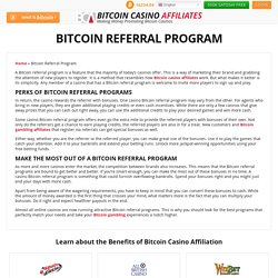 Bitcoin Referral Program Presents More Ways to Earn