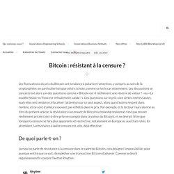 Bitcoin : résistant à la censure ?