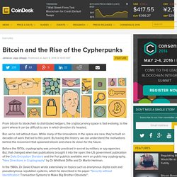 Bitcoin and the Rise of the Cypherpunks