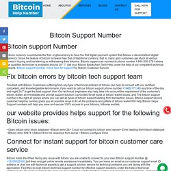 Bitcoin Support Number ¦ +1-833-540-0910