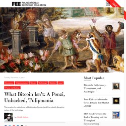 What Bitcoin Isn't: A Ponzi, Unbacked, Tulipmania