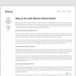 Why to Go with Bitcoin Wallet Hack? « Bithack