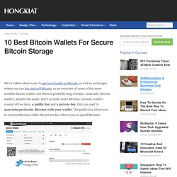 10 Best Bitcoin Wallets For Secure Bitcoin Storage