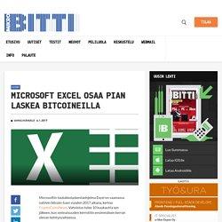 Microsoft Excel osaa pian laskea bitcoineilla – Mikrobitti