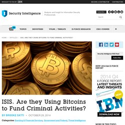 ISIS Using Bitcoins to Fund Criminal Activities