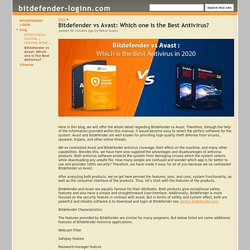 Bitdefender vs Avast: Which one is the Best Antivirus? - bitdefender-loginn.com
