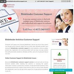 1-877-240-5577 Bitdefender customer service