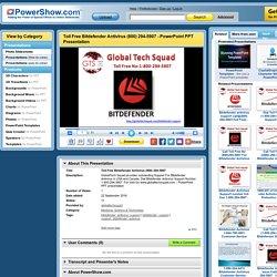 Toll Free Bitdefender Antivirus (800) 294-5907 PowerPoint presentation