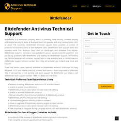 Bitdefender support phone number 1-844-415-8200