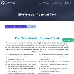 Bitdefender Uninstall Utility Download