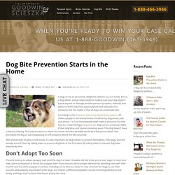 Dog Bite Prevention Starts in the Home