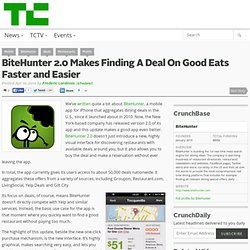 BiteHunter 2.0 Makes Finding A Deal On Good Eats Faster and Easier