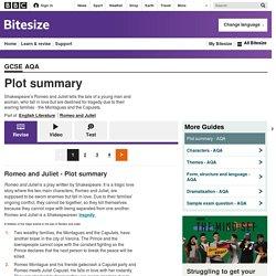 BBC Bitesize - GCSE English Literature - Plot summary - AQA - Revision 1