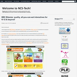 BBC Bitesize: quality, all-you-can-eat interactives for K-12 & beyond!