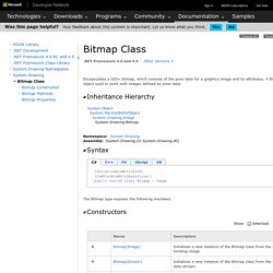Bitmap Class (System.Drawing)