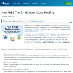 New FREE Tier for BitNami Cloud Hosting