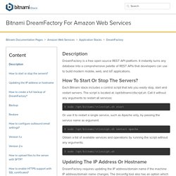 Bitnami DreamFactory for Amazon Web Services
