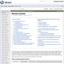 Bitnami Joomla! - Bitnami documentation