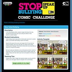 Bitstrips pour écoles: défi bd de Lutte contre l'intimidation