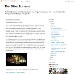 The Bitter Business: Social Media Marketing