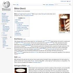 Bitter (beer)