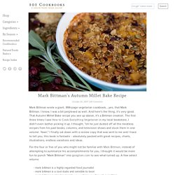 Mark Bittman's Autumn Millet Bake Recipe