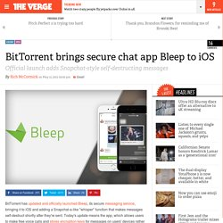 BitTorrent brings secure chat app Bleep to iOS