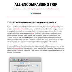 Start BitTorrent downloads remotely with Dropbox – All-Encompassing Trip