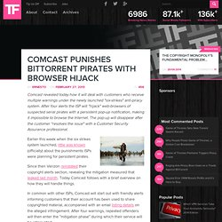Comcast Punishes BitTorrent Pirates With Browser Hijack
