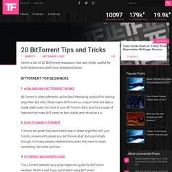 20 BitTorrent Tips and Tricks