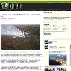 Les sables bitumeux émettent plus de carbone qu'initialement prévu