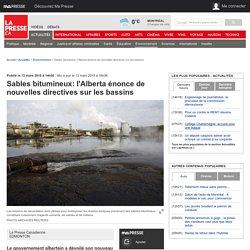 Sables bitumineux: l'Alberta énonce de nouvelles directives sur les bassins