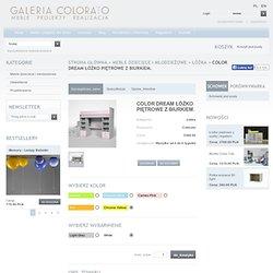 COLOR DREAM Łóżko piętrowe z biurkiem. Giallo Chiaro 464, White, 3100.00 PLN - Colorato.pl - Łóżka, Colorato